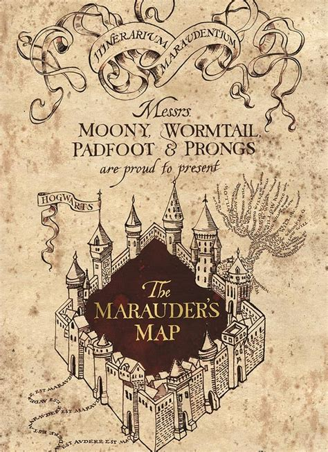 Harry Potter Card - Marauder`s Map - The Shop That Must