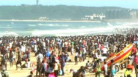 Thousands of holidaymakers descend on Durban's beaches