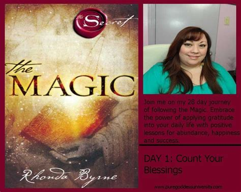 The Magic by Rhonda Byrne (Author of the Secret)- Day 1