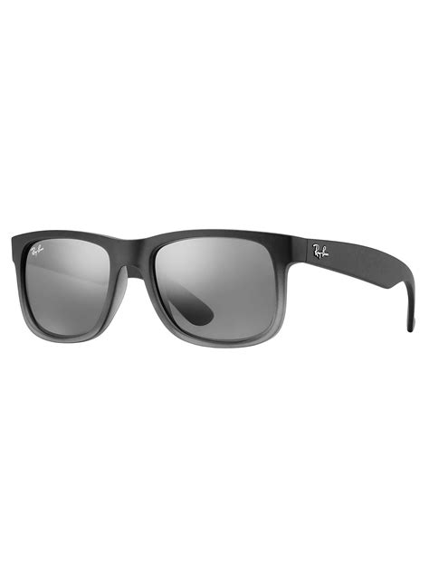 Ray-Ban Justin Sunglasses - Silver Gradient Mirror   Standout