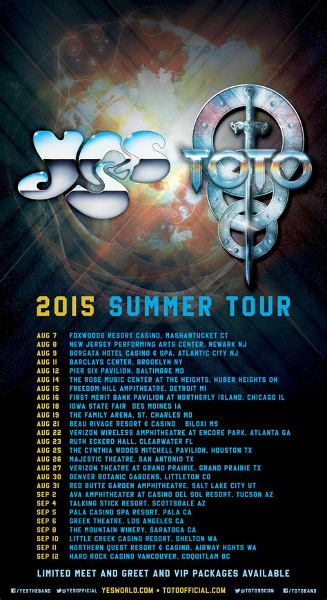 Yes and Toto confirm summer tour - The Prog Report