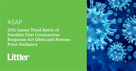 DOL Issues Third Batch of Families First Coronavirus