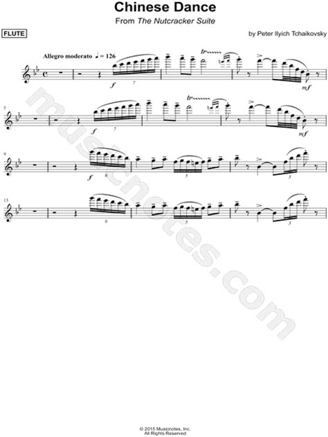 """""""Chinese Dance - Flute"""" from 'The Nutcracker' Sheet Music"""