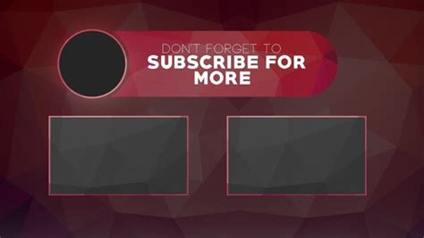 Youtube End Screen Template   shatterlion