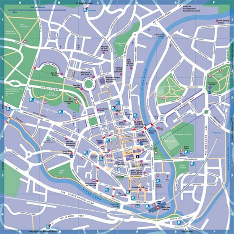 Large Bath Maps for Free Download and Print | High