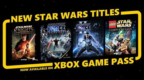 Xbox Game Pass Gets Four Star Wars Games to Play - Xbox