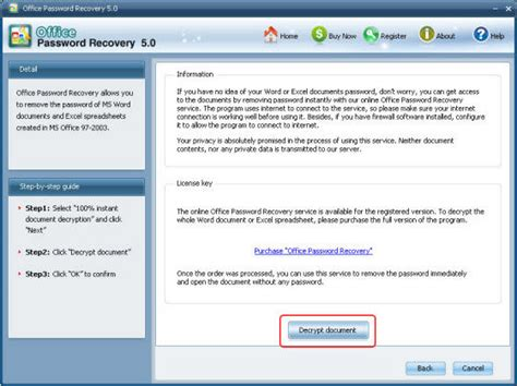 Instant Document Decryption-Remove Office Password with