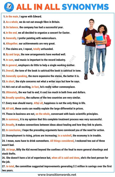 All in all Synonym: List of 25+ Synonyms for All in all