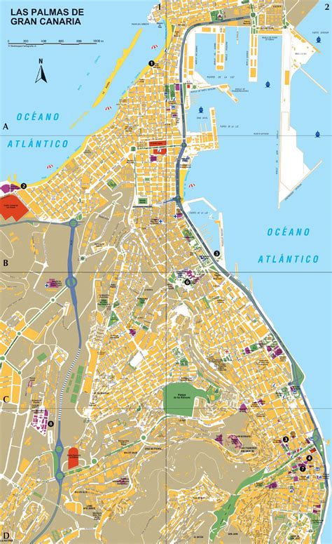 Large Las Palmas Maps for Free Download and Print   High