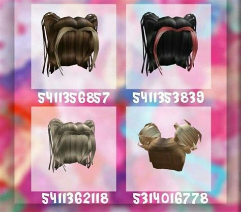 Hair #11 [not mine] in 2020   Roblox codes, Decal design