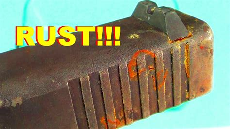 How To Remove RUST From A GLOCK Slide