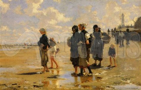 Fishing For Oysters At Cancale 1878 by John Singer Sargent