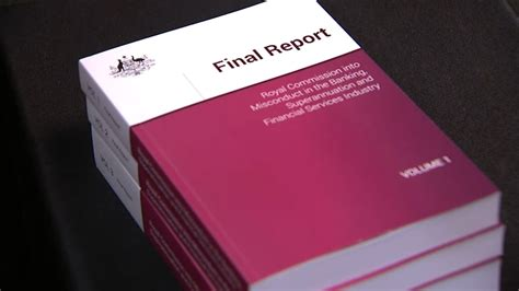 The banking royal commission report has finally been