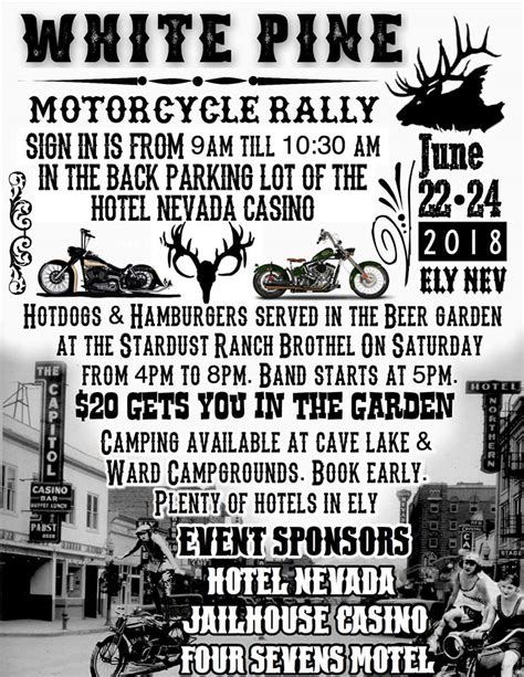 White Pine Motorcycle Rally - Welcome To Ely
