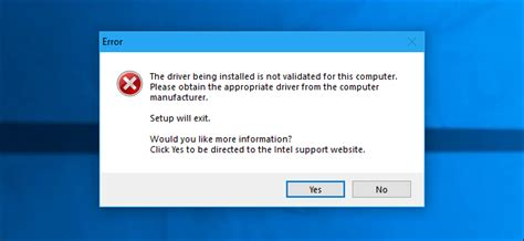 """How to Fix """"The Driver Being Installed Is Not Validated"""