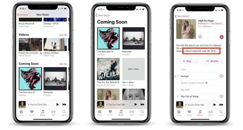 Apple Music Update Adds New 'Coming Soon' Section, Tweaked
