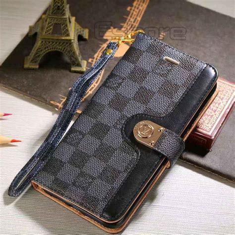 Louis Vuitton Leather Wallet Case For Samsung Galaxy Note