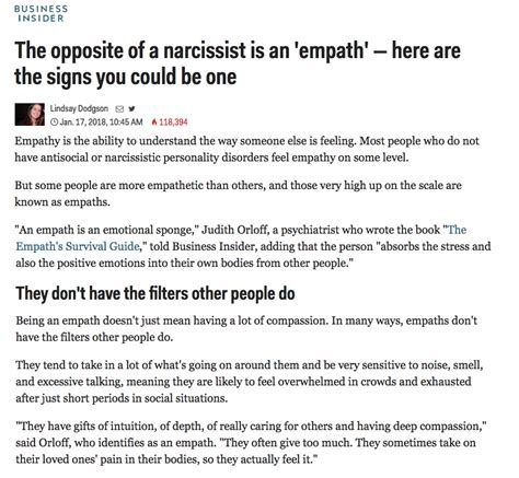 Business Insider: The opposite of a narcissist is called