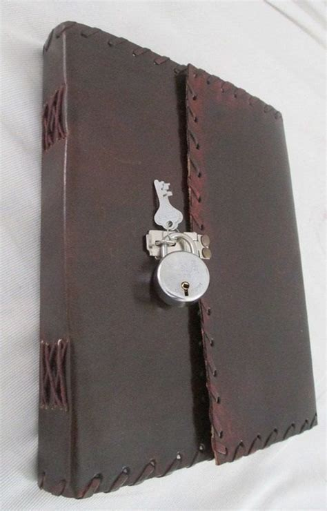 9x7 Customize Secret Journal Leather Diary with Actual