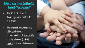 7 Themes of Catholic Social Teaching Lesson and Quiz by