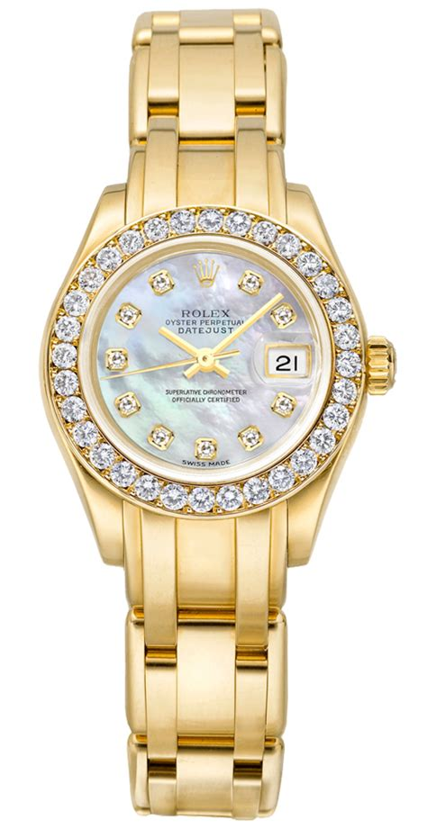 80298 Rolex Datejust Pearlmaster White Mother of Pearl