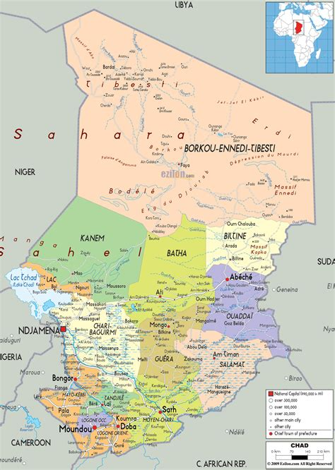 Maps of Chad | Map Library | Maps of the World