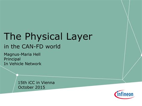 (PDF) The physical layer in the CAN FD world - the update