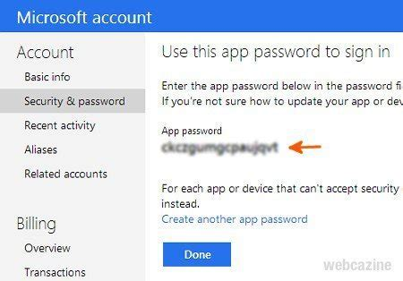 How to generate a Microsoft's application password for