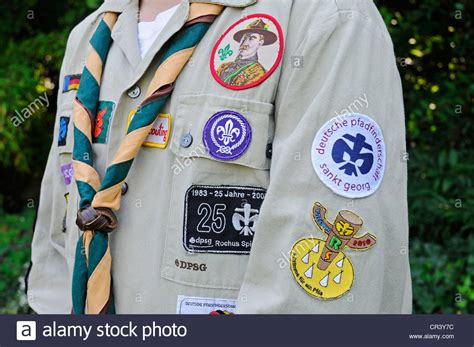 Scouts uniform with badges, neckerchief, Germany, Europe