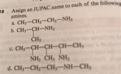 Solved: 18 Assign An IUPAC Name To Each Of The Following S