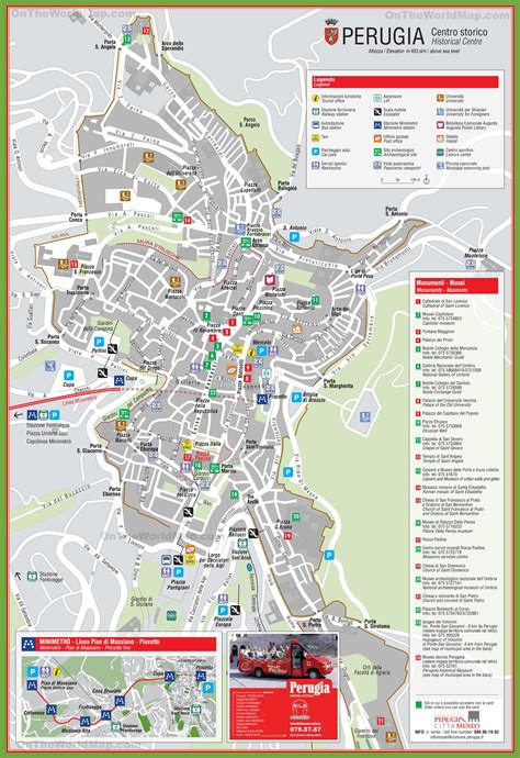 Perugia tourist attractions map