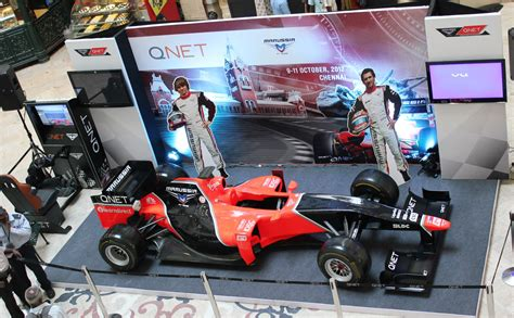 India welcomes the QNET-sponsored Marussia F1 Team Show