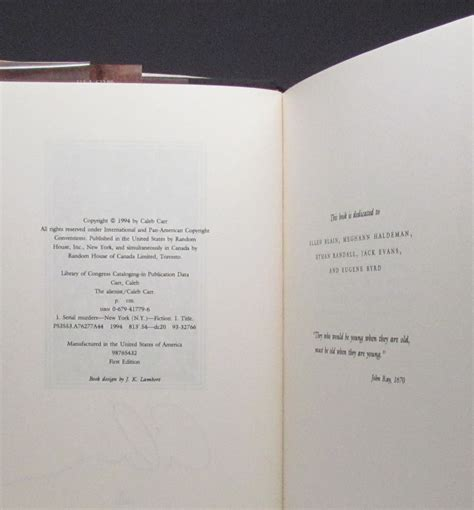The Alienist - The First Edition Rare Books