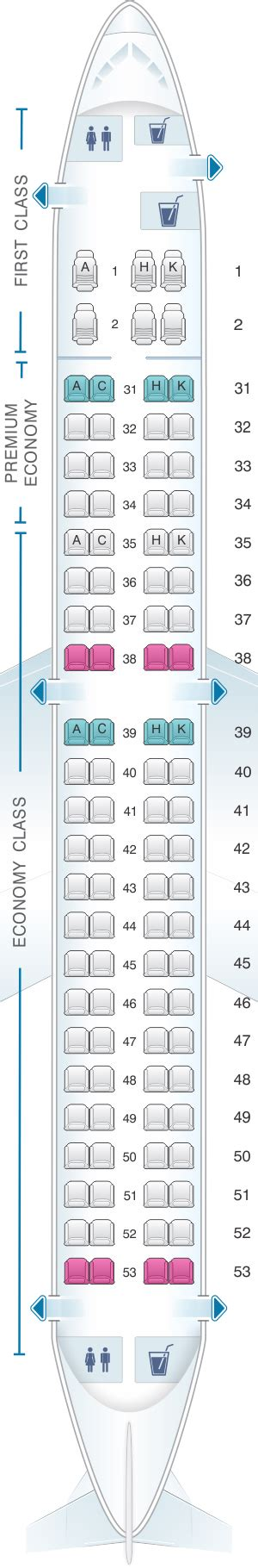 Plan de cabine China Southern Airlines Embraer RJ190