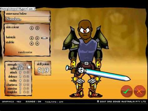 Swords and Sandals hack - YouTube
