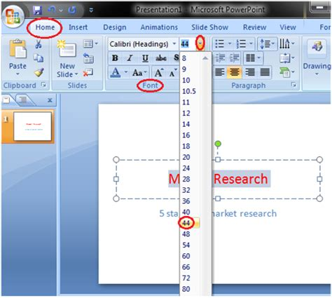 How to Format Font Size Powerpoint - javatpoint