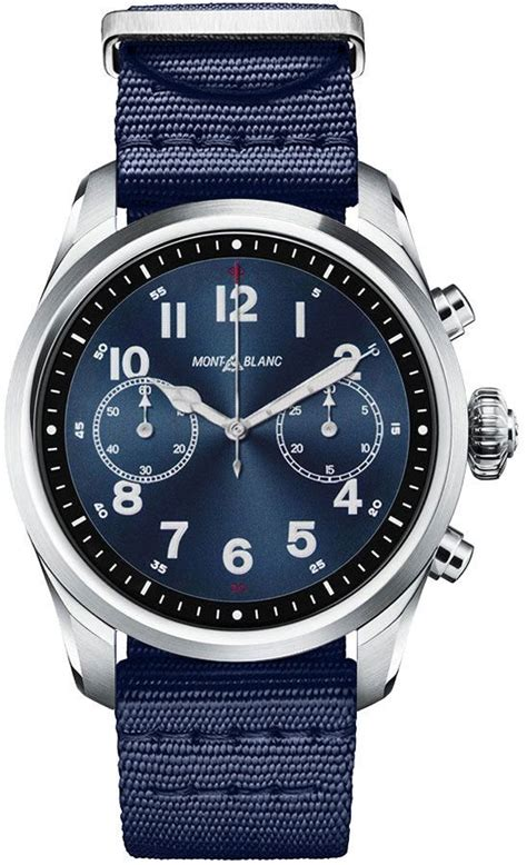 119561 MontBlanc Summit 2 Stainless Steel and Nylon Men's