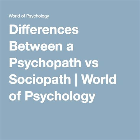 Differences Between a Psychopath vs Sociopath   Psychopath