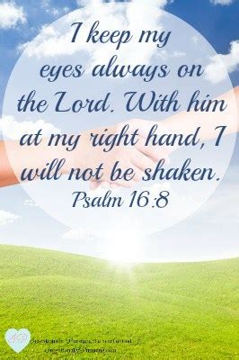 Psalm 16:8 - Right Hand of God - Crystal Storms