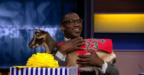 Skip Bayless surprised Shannon Sharpe with a real goat for