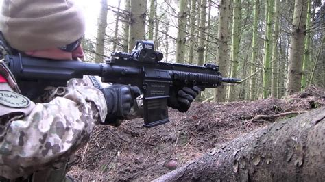 Airsoft War HK417, L96 The Fort, Scotland - YouTube