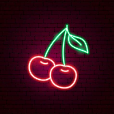 Cherry LED Neon Sign in 2020   Neon signs, Neon wall art