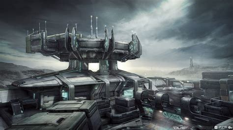 ArtStation - Dust 514 Outpost concept, Galan Pang