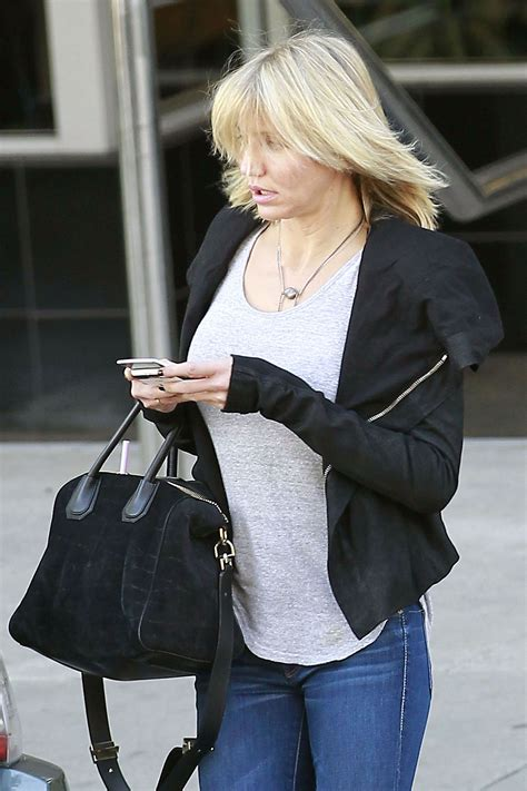 Cameron Diaz Candid in Tight Jeans Out in Los Angeles