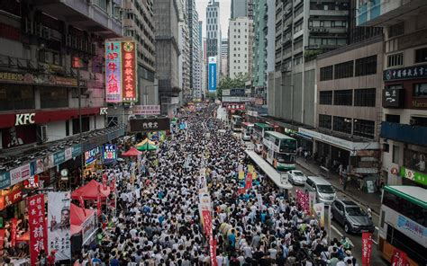 Mass protest in Hong Kong pushes democratic reform amid