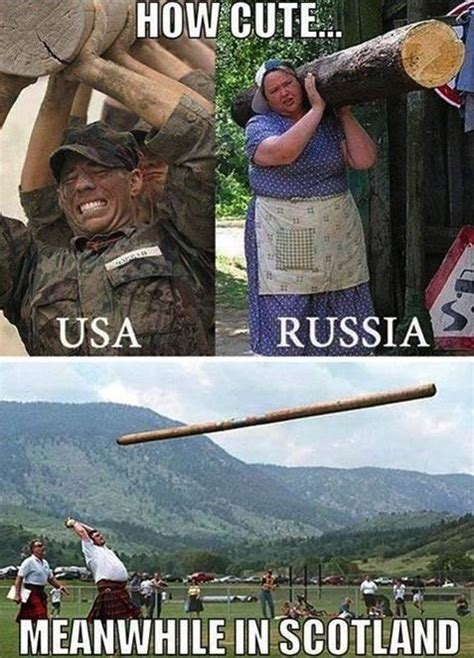 How cute USA vs Russia vs Scotland | Funny pictures with