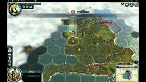 Let's Play Civ 5 - England - Giant Earth Map - Episode 1