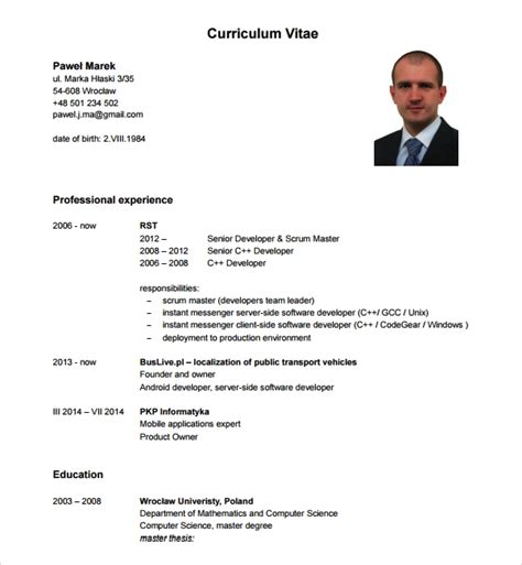 FREE 11+ Sample Android Developer Resume Templates in PDF