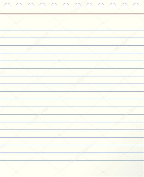 Blank lined paper — Stock Vector © Arcady #23994837