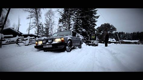 Volvo 740 snow drifting in sweden furudal - YouTube